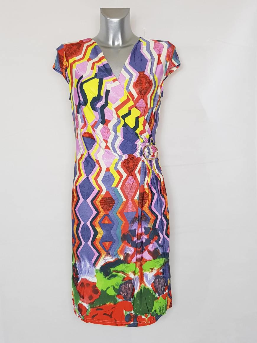 robe-femme-droite-fluide-drapee-motif-azteque2