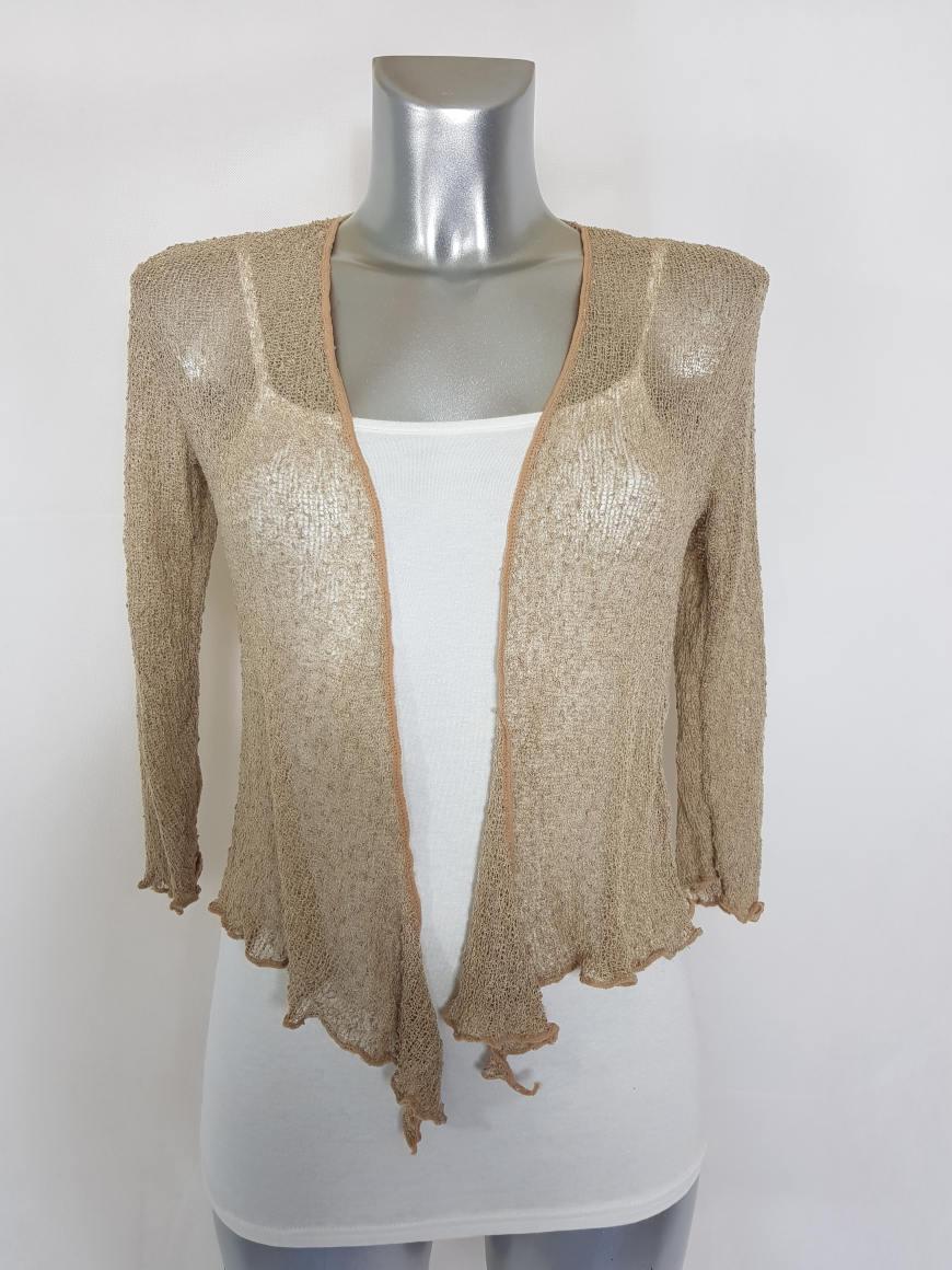 Gilet court boléro tricot femme manches courtes1.jpg