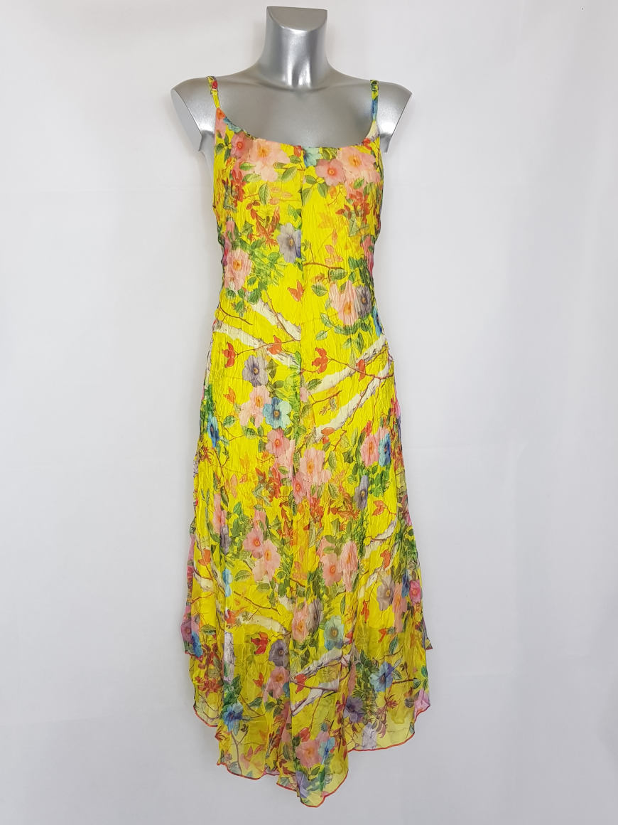 Robe Longue Femme Ronde Elegante En Voile Floral Caprices De Madeleine