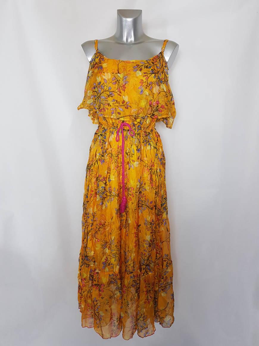 robe-ete-longue-coloree-femme-ronde-voile-floral