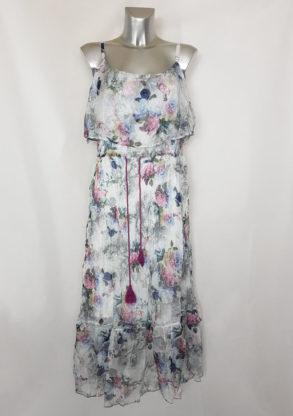 Robe longue élégante fleurie femme grande taille