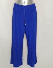 Pantalon large coloré femme ronde taille élastique