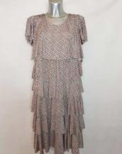 Robe moderne colorée femme ronde col rond