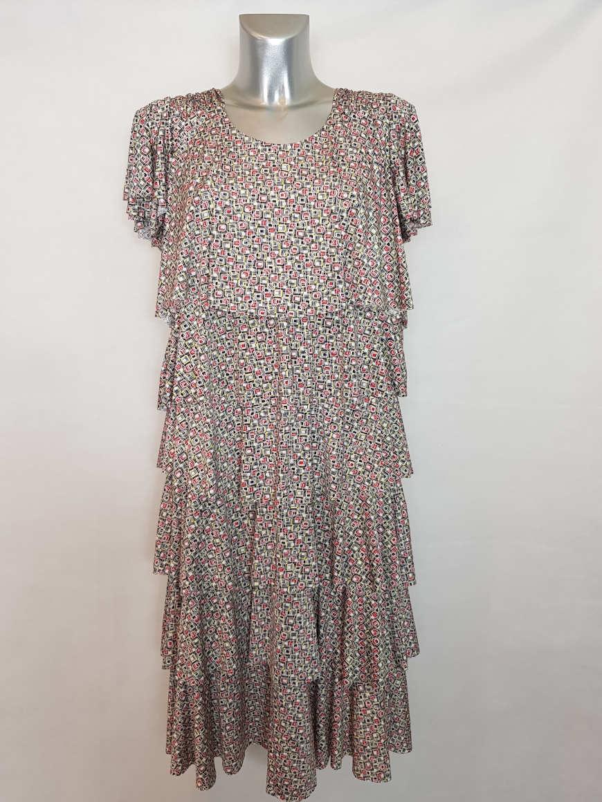 Robe moderne colorée femme ronde col rond2