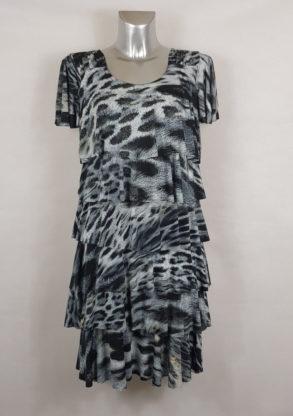 Robe chic léopard fashion femme ronde élégante