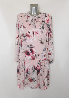 Robe évasée originale femme chic voile floral