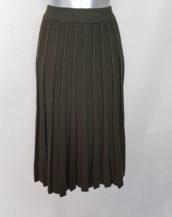 Jupe courte évasée en laine femme mode