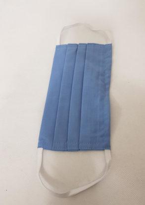Masque de protection en tissu coton bleu