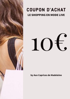 coupon d'achat 10€ live