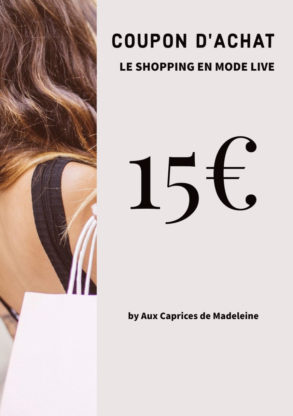 coupon d'achat 15€live