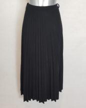 Jupe plissée grande taille en laine femme ronde