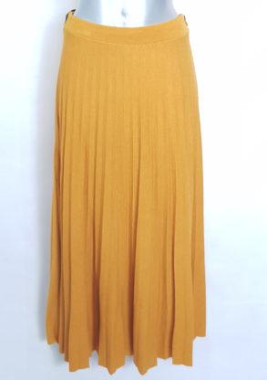 Jupe pull longue plissée chic femme grande taille