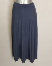 Jupe pull longue plissée femme taille élastique