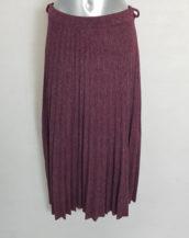 Jupe pull longue plissée mode femme ronde chic