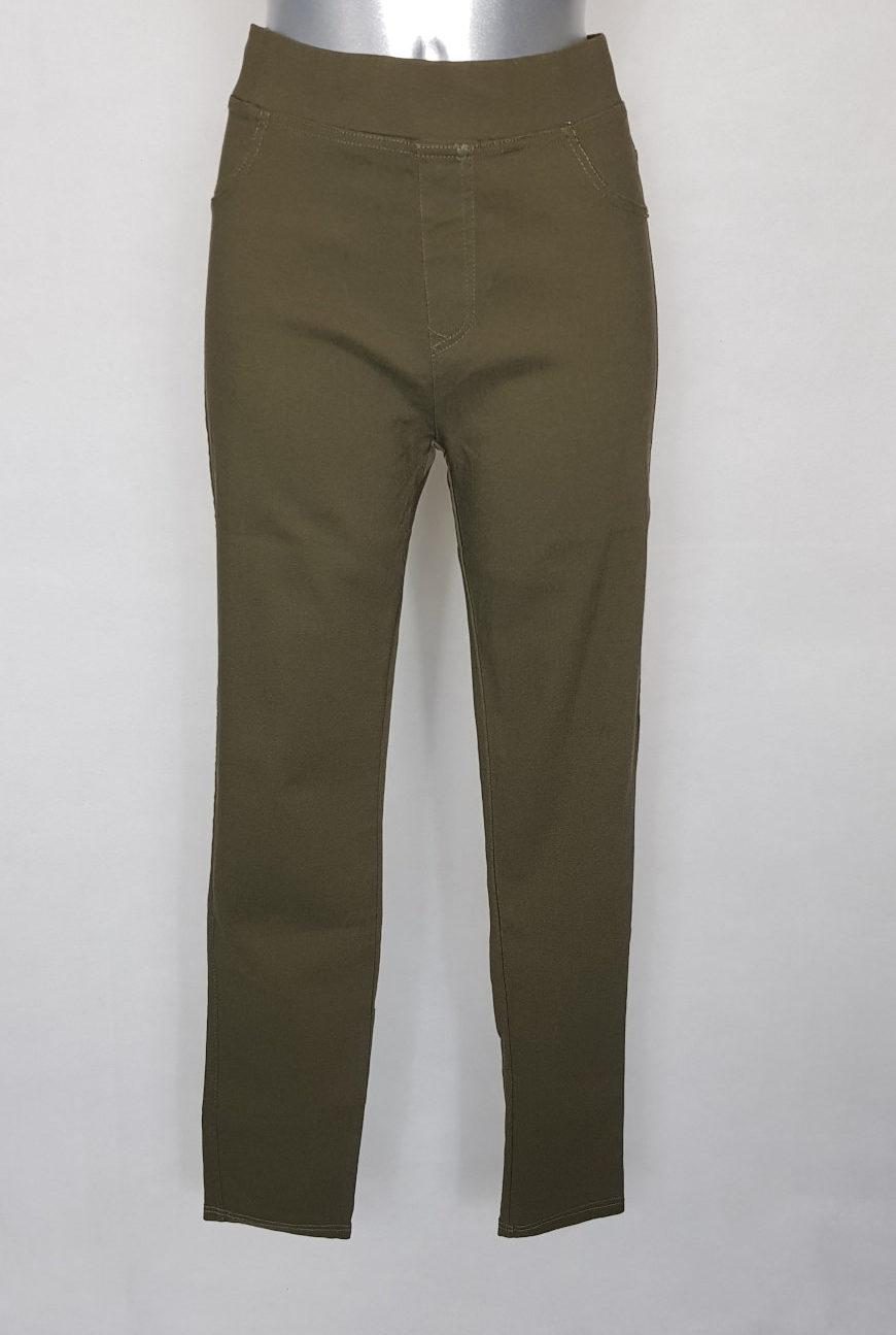 Pantalon confortable femme ronde taille haute1
