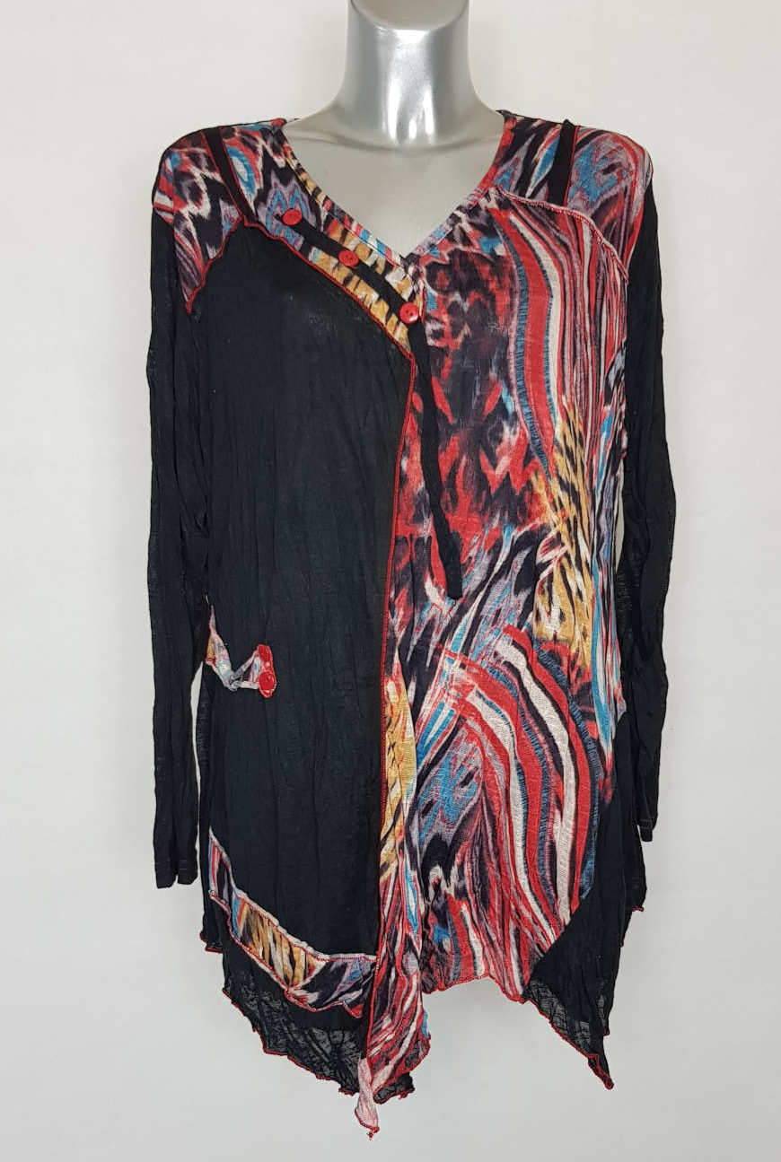 Tunique colorée fashion femme grande taille1