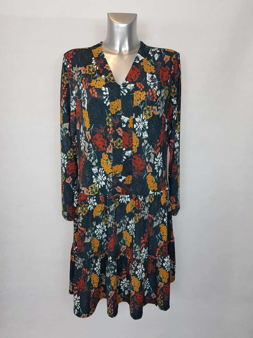 robe-evasee-originale-femme-ronde-a-manches2