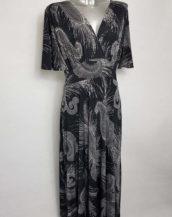 Robe longue tendance femme grande taille col V