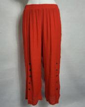 Pantalon ample femme ronde forte taille élastique
