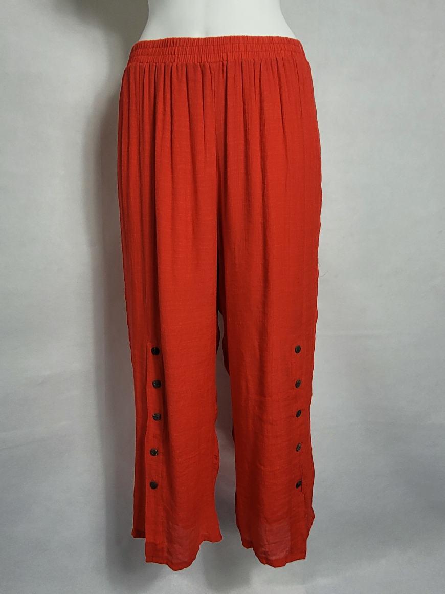Pantalon ample femme ronde forte taille élastique5