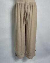 Pantalon ample fluide taille élastique femme forte