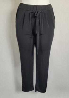 Pantalon noir femme ronde taille élastique