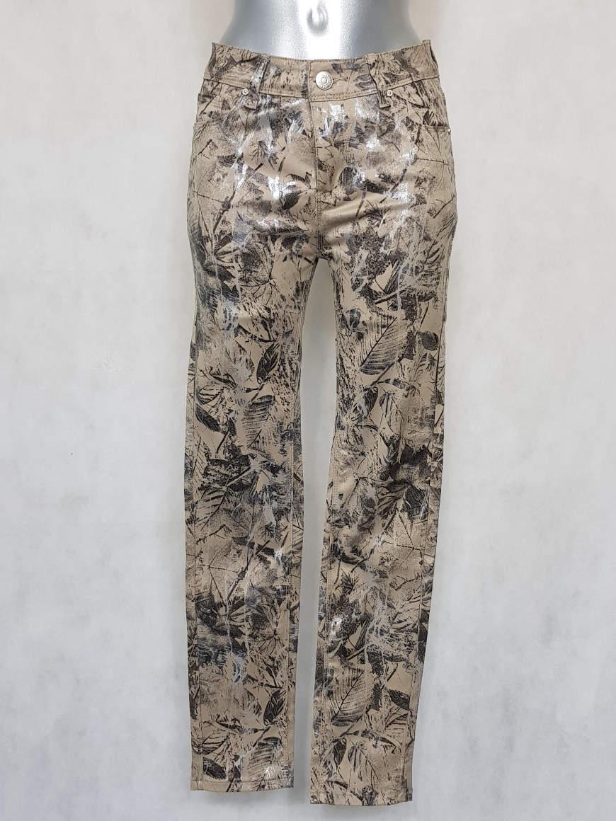pantalon-femme-fusele-taille-haute-a-motif-feuille
