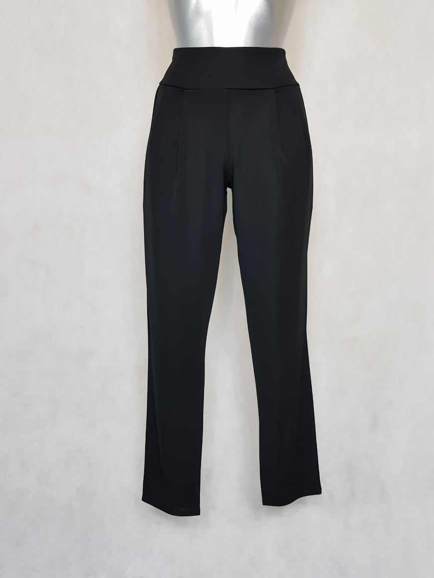 pantalon-femme-fluide-fusele-unie-noir