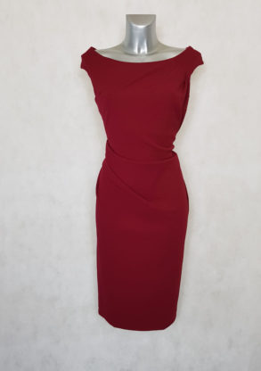 robe femme grande taille drapée bordeaux