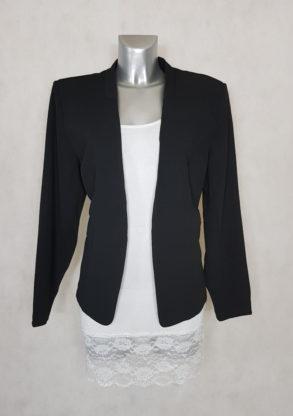 veste blazer femme grande taille noir