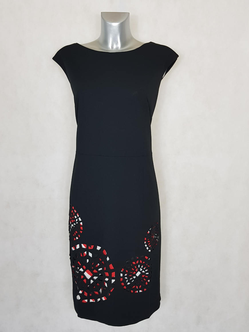 robe-femme-grande-taille-fourreau-imprime-noir