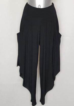 Pantalon style sarouel chic noir femme taille élastiquée