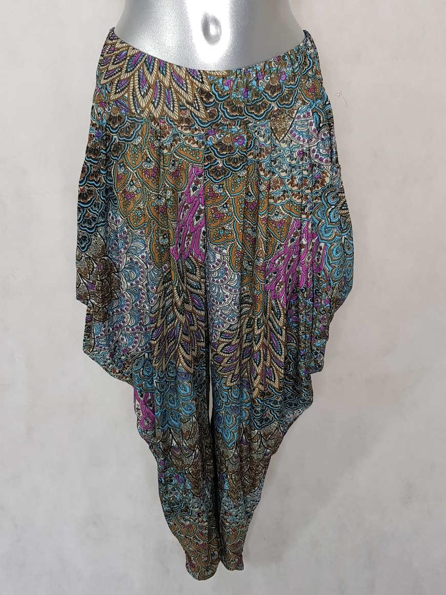 pantalon-femme-sarouel-fluide-beige-motif-azteque