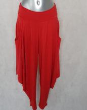 Pantalon femme sarouel rouge confortable original