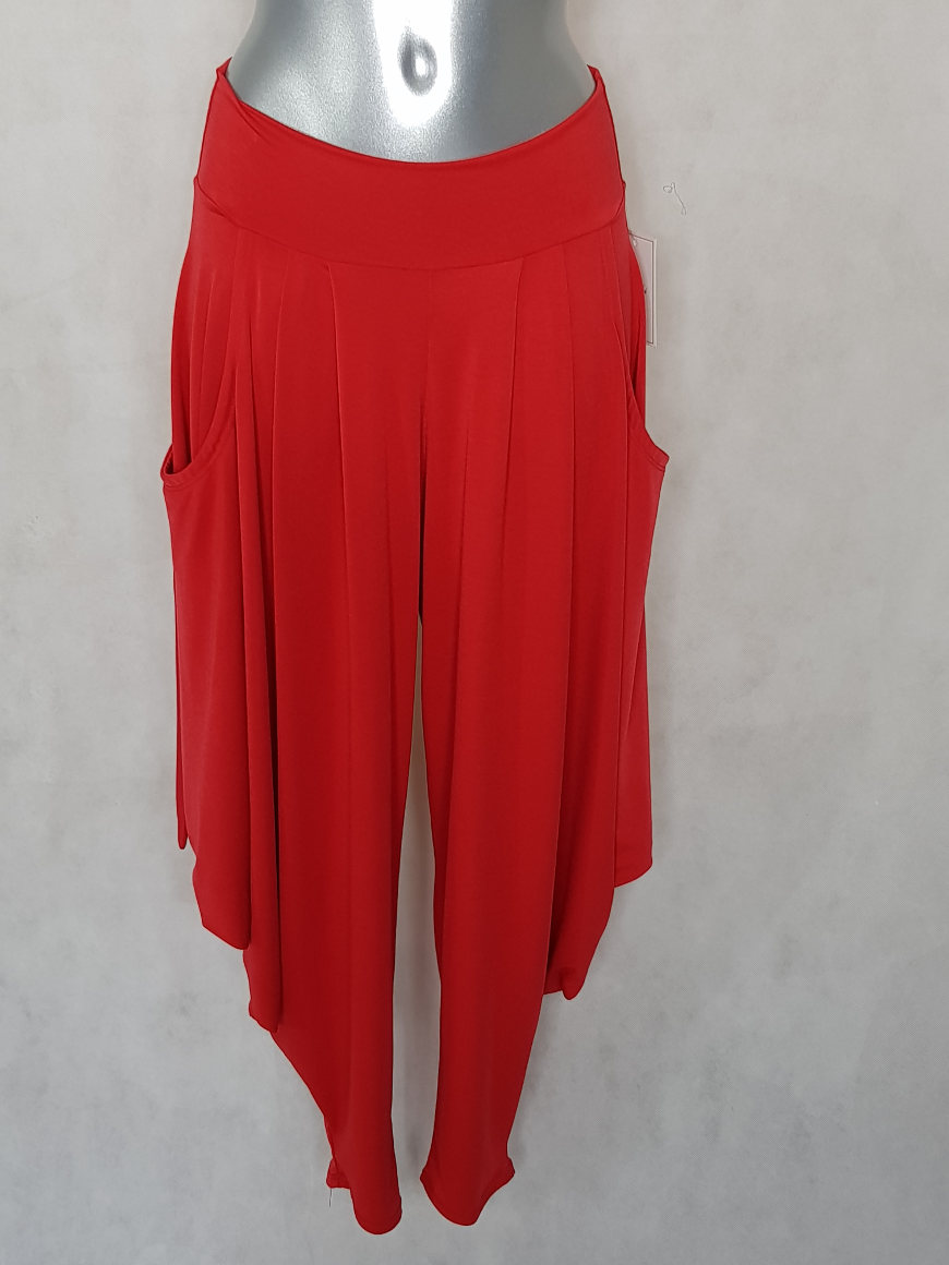 pantalon-sarouel-femme-chic-fluide-uni-rouge1