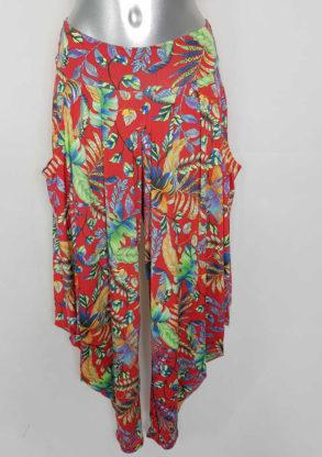 Pantalon habillé femme style sarouel imprimée