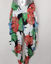 Pantalon sarouel coloré pour femme motif tropical