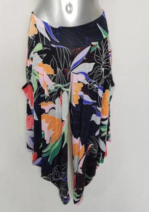Pantalon sarouel floral femme grande taille ceinture élastique