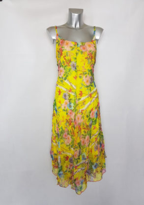 Robe longue femme ronde élégante en voile floral
