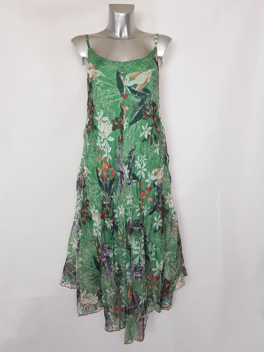 robe-femme-longue-a-bretelle-en-voile-motif-floral
