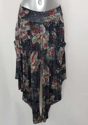 Pantalon sarouel femme coloré taille élastique