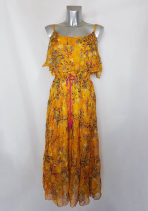 Robe été longue colorée femme ronde voile floral