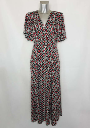 Robe longue à pois moderne femme fashion