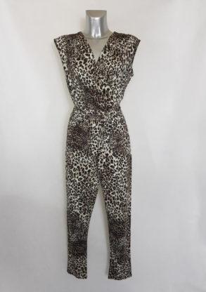 Combinaison tendance femme chic motif léopard