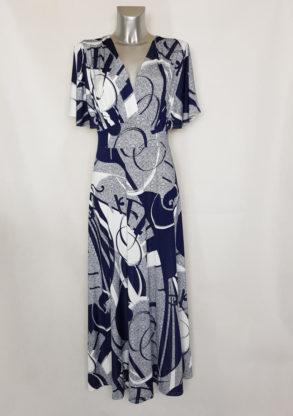 Robe longue femme élégante imprimé à manches