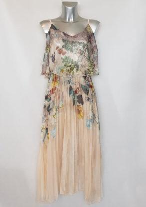Robe midi fashion voile floral femme ronde chic