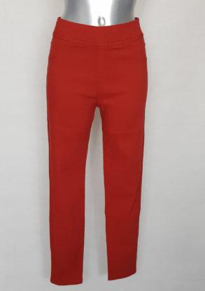 Pantalon chic femme ronde taille haute élastique
