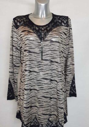 Tunique habillée femme grande taille motif animal
