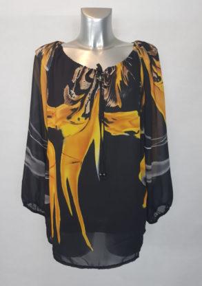 blouse droite chic voile colorée femme forte stylée