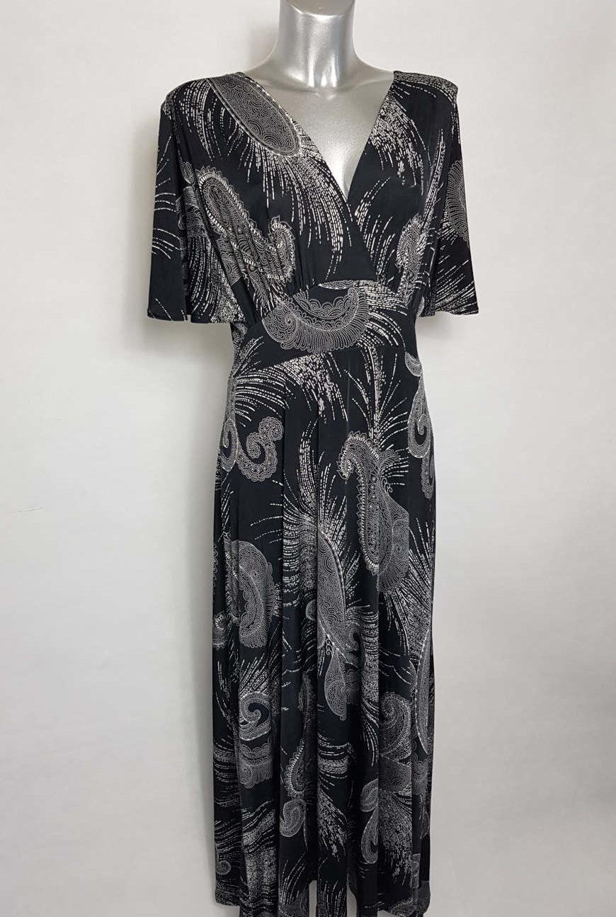 robe-longue-tendance-femme-grande-taille-col-v
